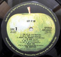 "1.The Beatles - Let It Be (Japan LP ""Country Flag"" Series 1976)"