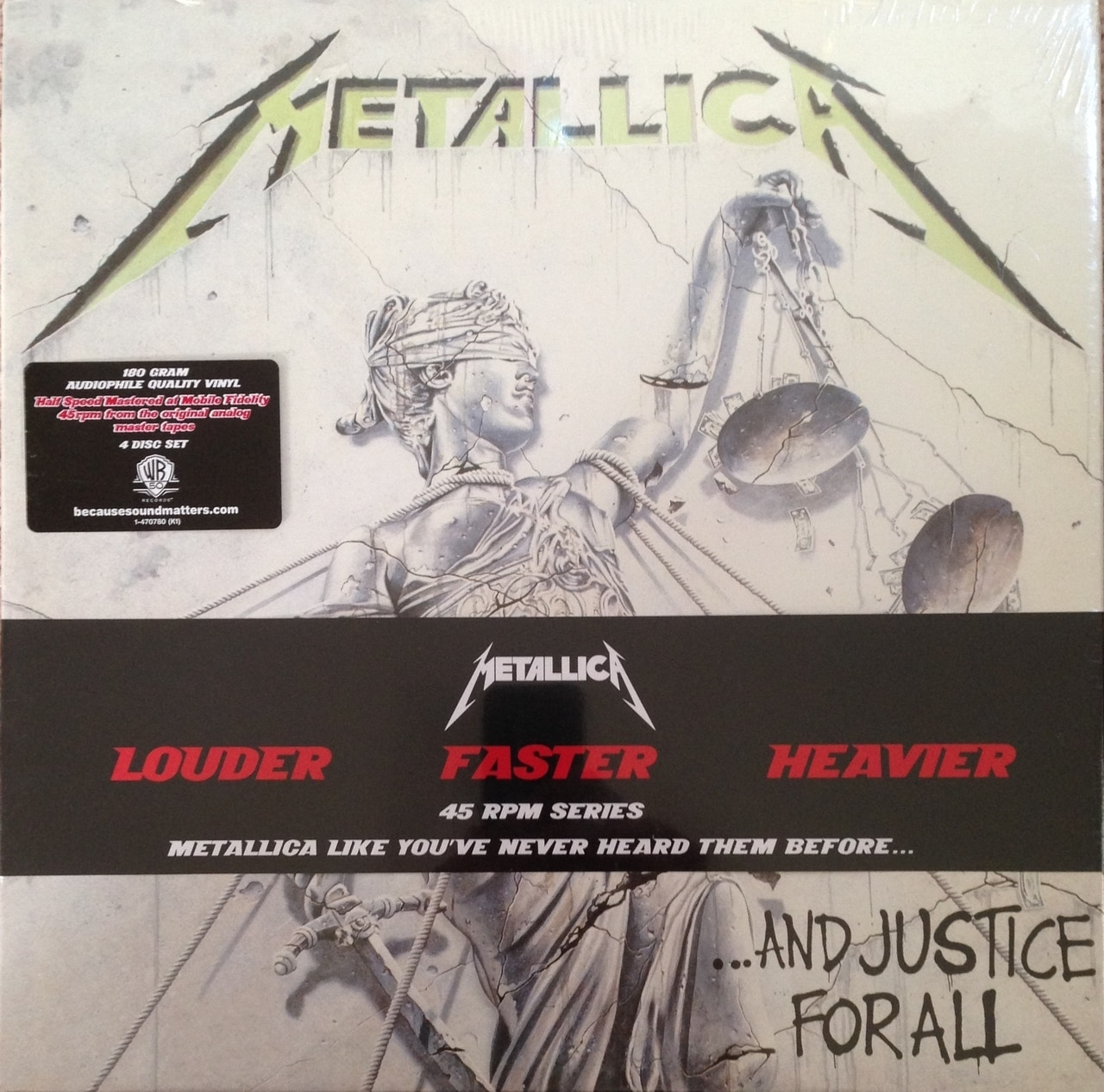 644)Metallica - ...And Justice For All (180g 45rpm Vinyl 4LP Box Set)